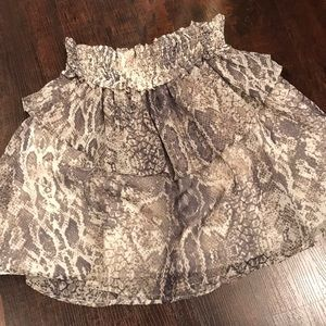 Snakeskin print a-line skirt